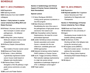 Third Symposium schedule