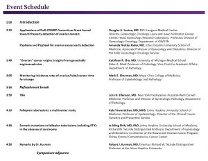 Sixth Symposium schedule